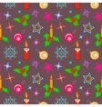 Seamless christmas pattern Bright colored holly vector image vector image