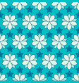 seamless pattern of linear flowers colore vector image vector image