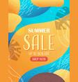 seasonal summer sale banner flyer or greeting card vector image
