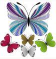 set abstract mosaic butterflies vector image vector image