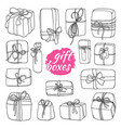 set gift box vector image vector image