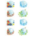 set of globes four seasons vector image