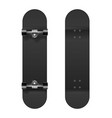 skateboarding realistic 3d black blank vector image vector image