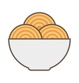 spaghetti dish isolated icon vector image