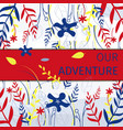 square flat banner our adventure travel on sea vector image