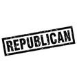 square grunge black republican stamp vector image