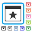 star calendar page framed icon vector image