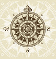 vintage nautical medieval wind rose vector image vector image