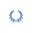 wreath line icon concept wreath flat vector image
