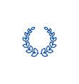 wreath line icon concept wreath flat vector image vector image