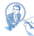 Zoom Magnifying Glass vector image vector image