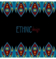 horizontal ethnic african template vector image