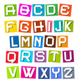 Alphabet - Colorful Paper Sheets vector image