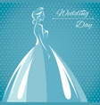 a silhouette of a bride vector image vector image