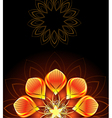 abstract bright flower vector image vector image