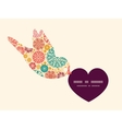 abstract decorative circles birds holding vector image vector image