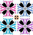 Abstract flower with color variations vector image vector image