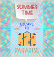 Abstract summer time infographic with book now vector image vector image