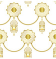 arabic golden luxury seamless pattern on white vector image vector image