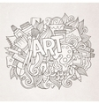 Art hand lettering and doodles elements vector image
