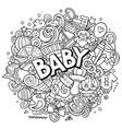 baby hand drawn cartoon doodles vector image