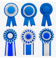 badges rosettes realistic set vector image vector image