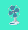 blue table fan flat design with green background vector image vector image