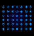 bright snowflakes winter blue christmas snow vector image