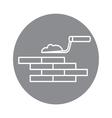 building brick wall vector image vector image