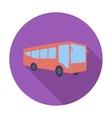 Bus flat icon vector image vector image