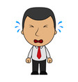 businessman angry cartoon vector image