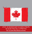 canadian flag flat - artistic brush strokes and vector image vector image