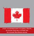 canadian flag flat - artistic brush strokes