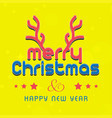 christmas card with yellow background vector image vector image