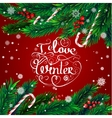 Christmas frame I love winter vector image