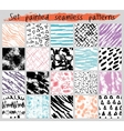 color painted seamless pattern set vector image vector image