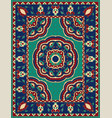 colorful carpet with mandalas vector image vector image