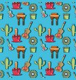 colorful pattern with elements of festa junina vector image vector image