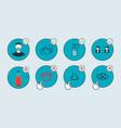 concept coronavirus covid-19 wear medical masks vector image vector image