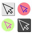 cursor flat icon vector image vector image
