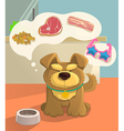 Cute brown doggy and food vector image vector image