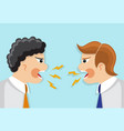 dispute and conflict in the office vector image vector image