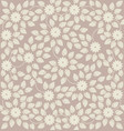 elegant seamless pattern with small flowers vector image