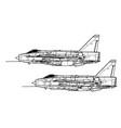 english electric lightning fmk 6 mk 53 vector image vector image