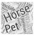 equestrian equipment Word Cloud Concept vector image vector image