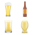 german beer icon set realistic style vector image vector image