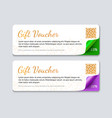 gift voucher template realistic vector image vector image