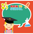 Girl with education icons vector image vector image