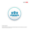 group of people icon - white circle button vector image