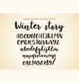 handwritten brush font hand drawn brush style vector image vector image